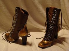 Great steampunk boots! - could easily add some copper details to store bought ones