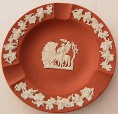 Wedgwood Jasperware Salmon Terracotta Ashtray Pegasus ~ from Antik Avenue on Ruby Lane