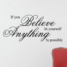 BELIEVE IN YOURSELF Home Wall Decal Saying Lettering Quote Stencil Sticker  8037-in Wall Stickers from Home & Garden on Aliexpress.com