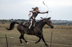 10 of 35 © Stefan Heunis/AFP/Getty Images     Boshkop, South Africa       A competitor takes aim at a target in the Mounted Archery Grand Africa Tournament on March 7, 2015.