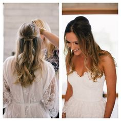 Cannot get enough of this bride with her hair down option.. Colour done by Robyn and hair styled by myself #styledbysnow #weddinghair @snowbysamanthasnow