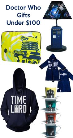 Doctor Who Gifts Under $100 I pretty much want all these things except the monopoly, and that's only because we already have it.