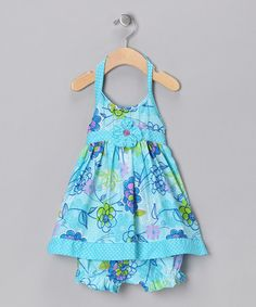 Turquoise baby dress and bloomers...baby girl clothes are the cutest!