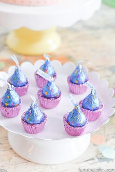 """Candy """"cupckes!"""" Ice Cream Party Ideas: Pastel Colors, ice cream cookies, cones with sprinkles,"""