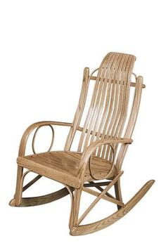 Beaver Valley Round Arm Rocker from DutchCrafters Amish Furniture. Solid wood steam bent porch rocker. This rustic-style rocker is a great addition to an open or enclosed patio. Made in your choice of oak, cherry, or brown maple. #rockingchair #porch #wooden #rustic