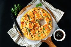 Savory Korean Shrimp Pancake - crispy on the outside & lightly chewy inside. So delicious it's great for any meals or snack.
