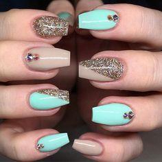 Instagram photo of acrylic nails by tkonails