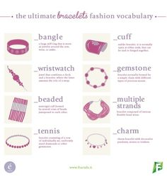 bracelets-vocabulary