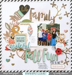 Designer @wantenucci is sharing this amazing LO using our #october2015 featuring @pebblesinc Jen Hadfield DIY home collection @pinkpaislee Cedar Lane and @hipkitclub exclusive cut files designed by @kjstarre #hipkitclub #hipkits #scrapbook #scrapbooklayout #cutfiles