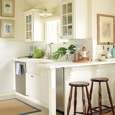 All we really need -- just like way back when, in your teeny-tiny apartment; right, hubby? Small Kitchen Design, Pictures, Remodel, Decor and Ideas