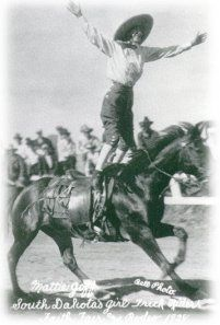 Mattie Goff Newcombe, professional trick rider in the 1920's