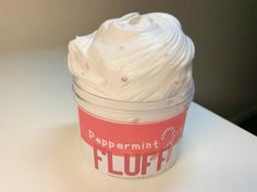 Peppermint Fluff peppermint scented fluffy and inflatable Butter Slime Diy, Etsy Slime, Slime Containers, Strawberry Jelly, Slime Kit, Slime Shops, How To Make Slime, Diy Clay, Handmade Items