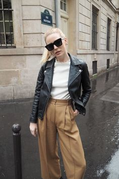 Megan adelaide- leather jacket outfit