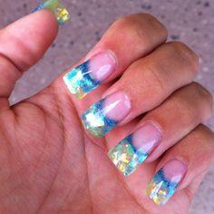 Crazyy mermaid nails