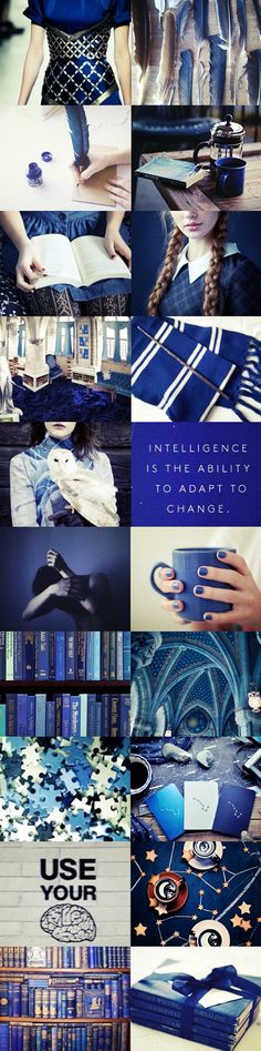 Ravenclaw Aesthetics ~~Slytherin I may be, but some of my best friends are Ravenclaws, and I believe in house equality ;)