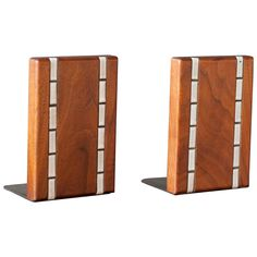 Martz Walnut Bookends for Marshall Studios | From a unique collection of antique and modern bookends at https://www.1stdibs.com/furniture/more-furniture-collectibles/bookends/