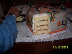 The Fabulous Strawberry layers, it was a big cake!