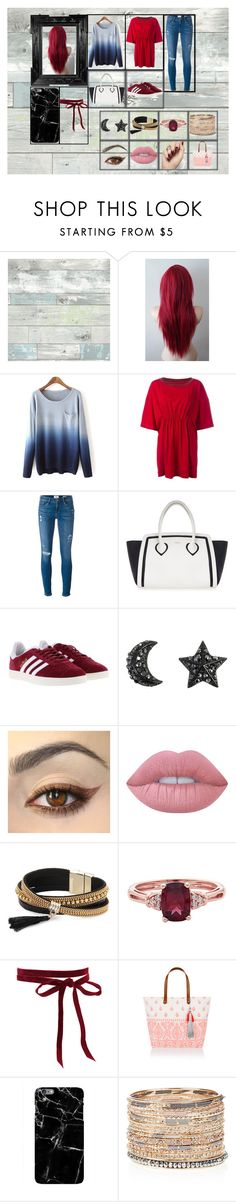 """""""No Link"""" by sparklingpearl619 on Polyvore featuring Wall Pops!, MM6 Maison Margiela, Frame Denim, Furla, adidas, Lime Crime, Simons and Accessorize"""