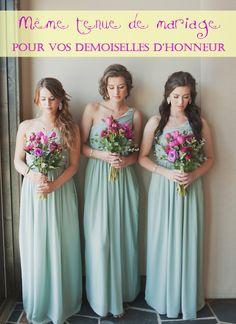 Robes demoiselle d'honneur assorties?