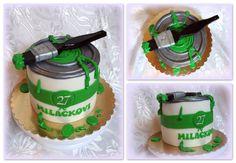 tin colour cake