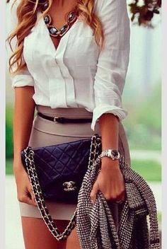 classy...but maybe with a slightly longer skirt