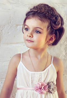 aw, how beautiful is this little one! Gorgeous Hairstyles For Little Girls