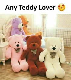 Cheap teddy bear gift, Buy Quality gift for birthday directly from China giant teddy Suppliers: 5 Colors Giant Teddy Bear Skins Soft PP Cotton Mini Plush Toy Big Teddy Bear Gifts For Birthday/Lovers/Christmas Teddy Bear Cartoon, Giant Teddy Bear, Cute Teddy Bears, Teddy Bear Gifts, Teddy Bear Pictures, Bear Doll, Pet Toys, Like4like, Hello Kitty
