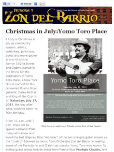 CHRISTMAS IN JULY: YOMO TORO PLACE