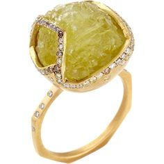 Monique Péan  Yellow Prehnite & Diamond Ucayali Ring
