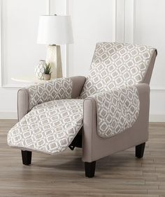 Another great find on #zulily! Silver Cloud Liliana Reversible Recliner Furniture Protector #zulilyfinds