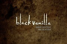 Black Vanilla Logo Texture by imjustcreative, via Flickr...I like the texture but I'm not sure it fits with the company name, I keep thinking coffee house instead a bakery/ ice cream shop.