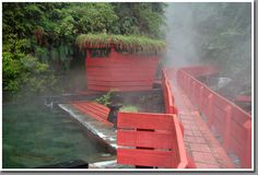 Hot springs of Termas Geometricas, Conaripe, Chile