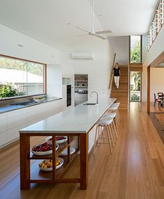 Brookes Residence, Brisbane by Arkhefield. Interior Architecture, Interior Design, Brisbane Architecture, Home Focus, Luxury Kitchen Design, Japanese Interior, New Kitchen, Kitchen Ideas, Home And Living