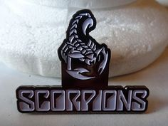 SCORPIONS + SCORPION   Metal Pins   Riffs Merchandise Red Logo, Metal Pins, Scorpion, Pin Badges, Patches, Messages, Scorpio, Text Posts