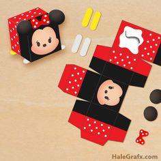 Free printable Minnie Mouse Tsum Tsum treat box