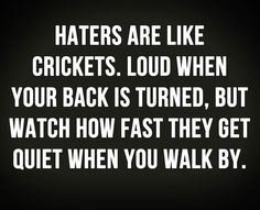 Watch them hate #haters