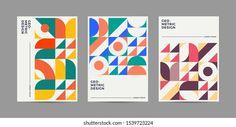 Portfólio de fotos e imagens stock de Novendi Prasetya | Shutterstock Geometric Graphic Design, Geometric Font, Graphic Design Layouts, Book Design Layout, Geometric Background, Geometric Poster, Layout Inspiration, Graphic Design Inspiration, Typography Design