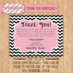 MARY KAY // Thank You // Direct Sales // Marketing // Business