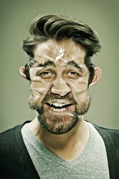 A photographic series by Wes Naman involving scotch-taped faces is making me contemplate the pain of ripping out facial hair on a whole new level. It helps that his subjects all have this bemused expression despite having their mugs all tightly bound by scotch tape. Ouch.