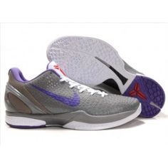 Nike Zoom Kobe VI Mens Basketball Shoe Gray Purple White