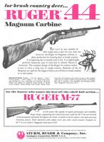 Ruger 44 Magnum Carbine Rifle 1972 Ad PictureLoading that magazine is a pain! Get your Magazine speedloader today! http://www.amazon.com/shops/raeind
