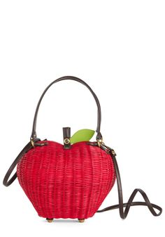 Pome Sweet Home Bag. You feel fashionably at ease with this apple bag by Ollie and Nic at your side! #red #modcloth