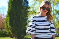 Zara bell sleeves | fashion, outfit, top