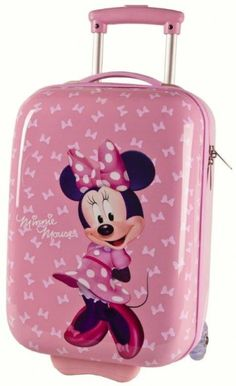 Minnie Disney Trolley Valige Rigide Bagaglio a Mano, 48cm, Viaggio Zaini e Trolley Bambina Rosa Fiocco - TocTocShop.com -