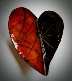 Give that special person in your life one of these beautiful heart bowls. A great place to place your jewelry, etc. Hand cut, hand forged, hand torched enameled copper Heart Dish. Many layers powdered enamels torched to create vibrant colors. Approximately 5 length 3 3/4 wide 1 deep.