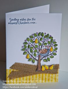 Les Ateliers de Val: Des poires....Partridge & Pears Clear-Mount Stamp Set from Stampin' Up August 2014 Holiday Mini
