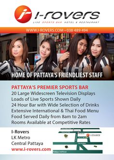 They have a different lunch special everyday at I-Rovers Sportsbar Pattaya, on Fridays: it's fish & chips!