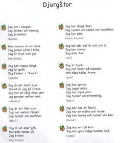 Sign Language Book, Swedish Quotes, Learn Swedish, Swedish Language, Classroom Inspiration, Science Lessons, Primary School, Preschool Crafts, Kids And Parenting