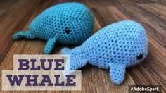 olenahuffmire.com video  pattern free How to Crochet a Blue Whale Amigurumi - Easy Step by Step Tutorial
