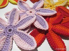 Crochet Flower Pattern, Beautiful Crochet two-tone Flower, Crochet ...